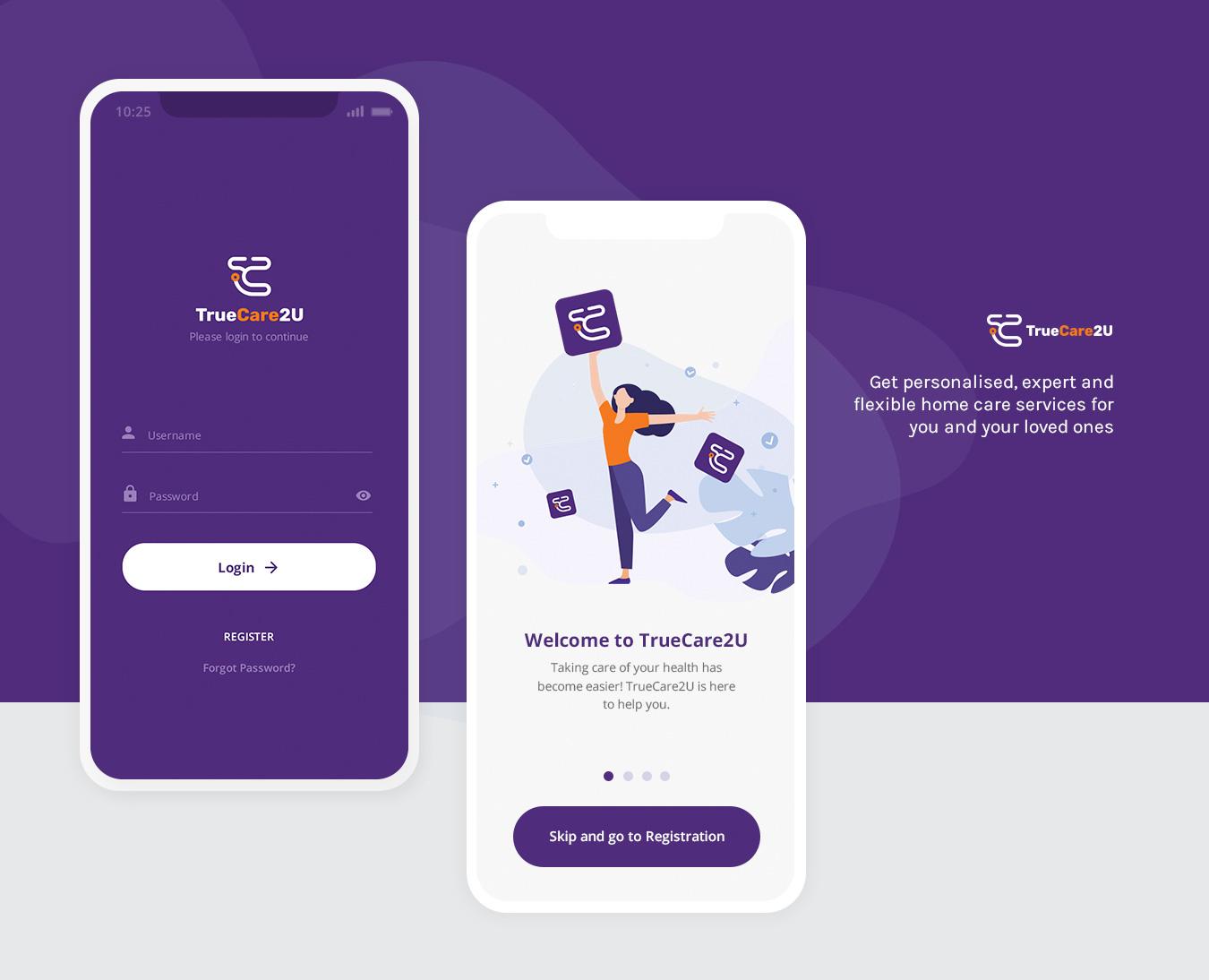 TrueCare2U - Mobile App UI