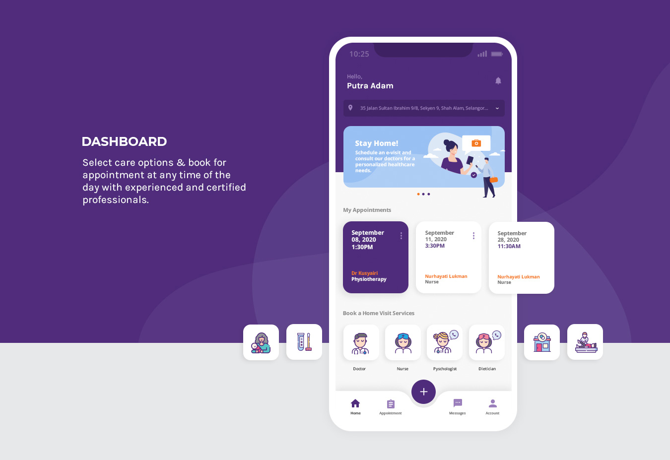 TrueCare2U - Mobile App Dashboard