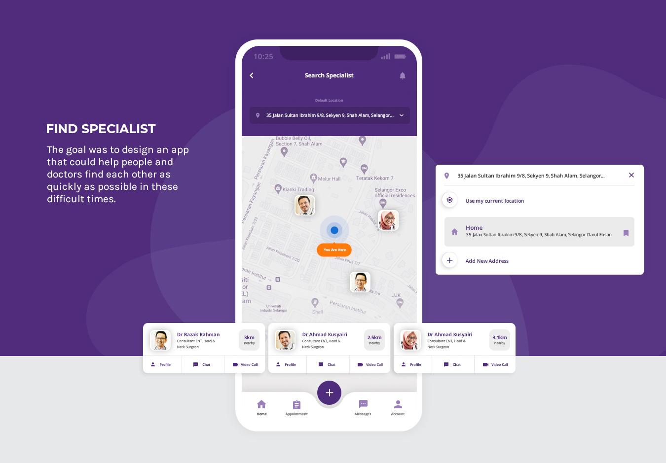 TrueCare2U - Mobile Application - Find Specialist