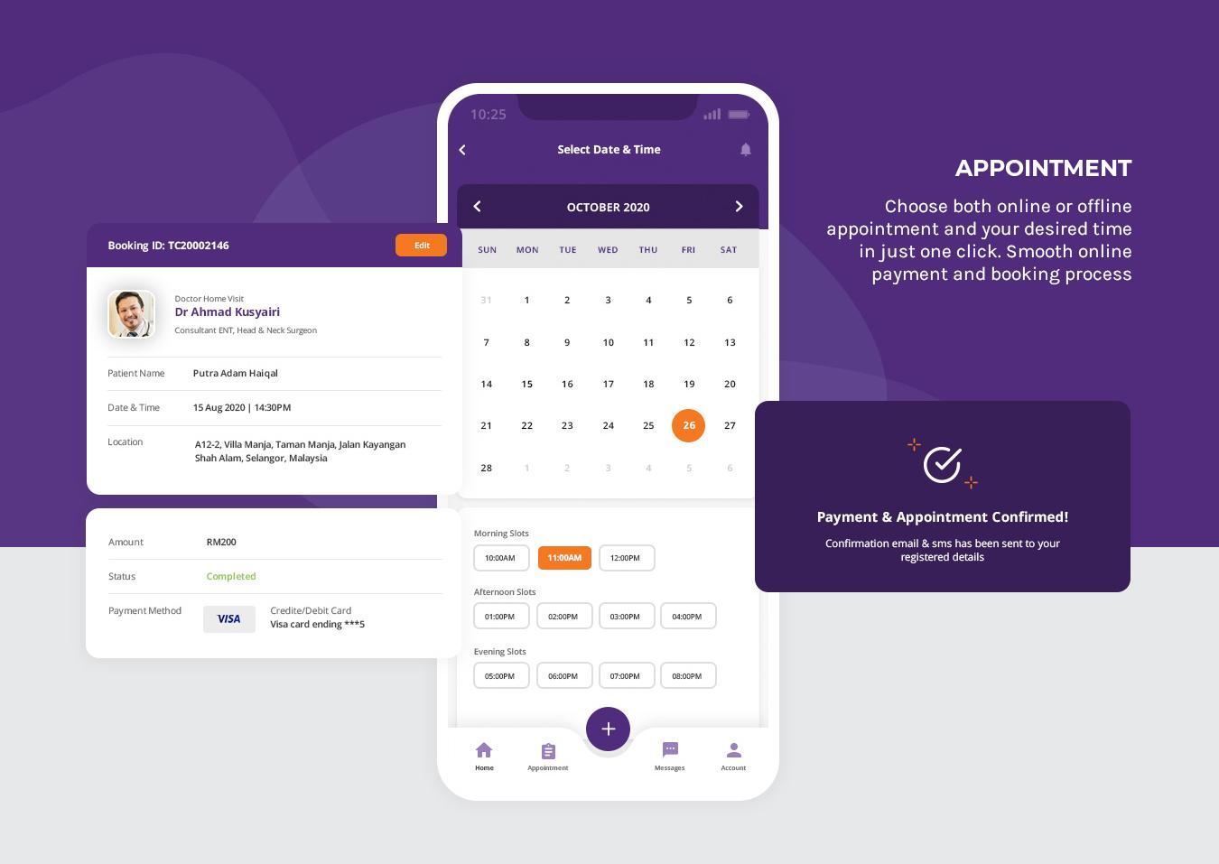 TrueCare2U - Mobile Application - Appointment