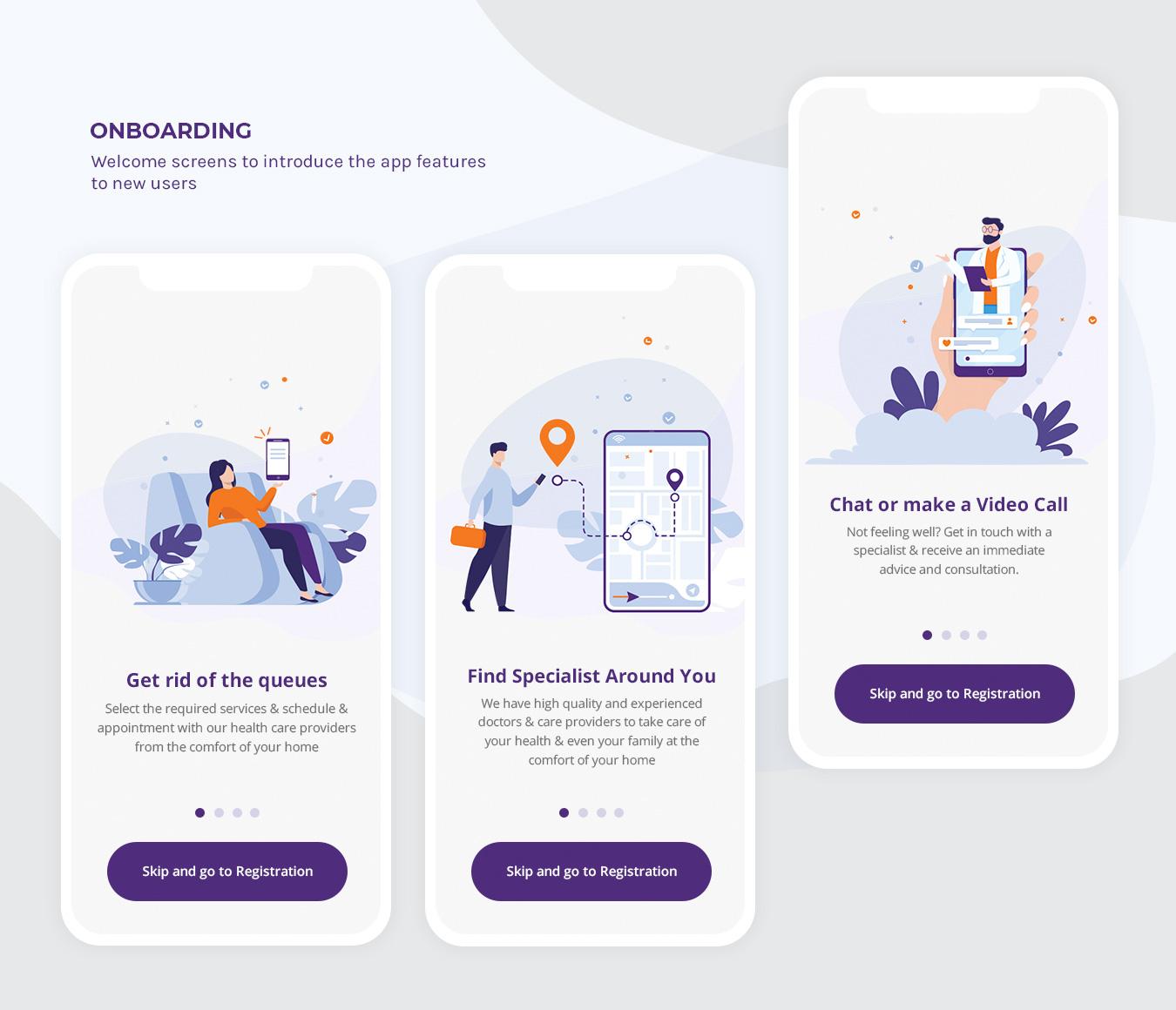 TrueCare2U - Mobile Application - Onboardings
