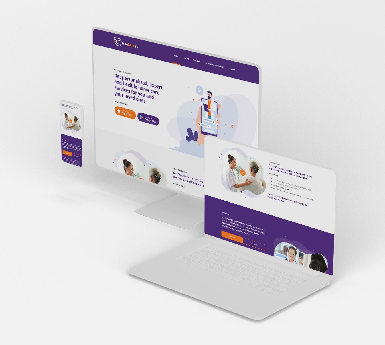 TrueCare2U - Web Design & Development
